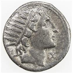 ROMAN REPUBLIC: Man. Aquillius, AR denarius (3.57g), Rome. VF