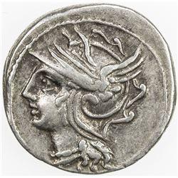 ROMAN REPUBLIC: Coelius Caldus, AR denarius (3.94g), Rome. VF