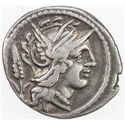 ROMAN REPUBLIC: L. Julius, AR denarius (3.81g), Rome. VF
