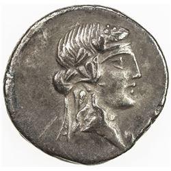 ROMAN REPUBLIC: Q. Titius, AR denarius (3.56g), Rome. VF