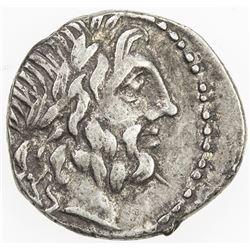 ROMAN REPUBLIC: Cn. Cornelius Lentulus, AR quinarius (1.85g), Rome. F-VF