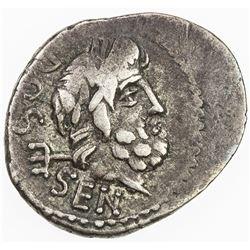 ROMAN REPUBLIC: L. Rubrius Dossenus, AR quinarius (1.55g), Rome. F-VF