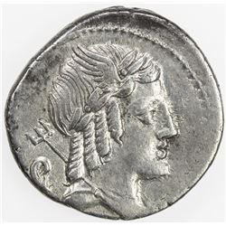 ROMAN REPUBLIC: L. Julius Bursio, AR denarius (3.42g), Rome. VF