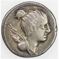 ROMAN REPUBLIC: C. Postumius, AR denarius (3.76g), Rome. F-VF