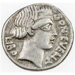 ROMAN REPUBLIC: C. Scribonius, AR denarius (4.05g), Rome. VF