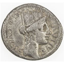 ROMAN REPUBLIC: A. Plautius, AR denarius (3.78g), Rome. F-VF