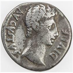 ROMAN EMPIRE: Augustus, 27 BC - 14 AD, AR denarius (3.55g), Lugdunum. F-VF