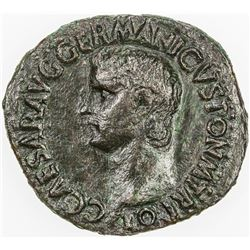 ROMAN EMPIRE: Caligula, 37-41 AD, AE as (10.32g), Rome. VF