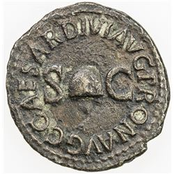 ROMAN EMPIRE: Caligula, 37-41 AD, AE quadrans (2.48g), Rome. VF