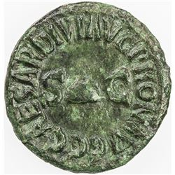 ROMAN EMPIRE: Caligula, 37-41 AD, AE quadrans (2.42g), Rome. VF