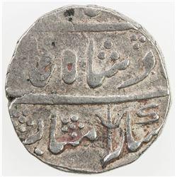 """SHAHPURA: AR rupee (11.16g), """"Shahjahanabad"""", year 12. VF"""