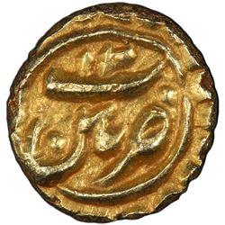 MYSORE: Tipu Sultan, 1782-1799, AV fanam (0.04g), Patan, AH1200. PCGS MS64