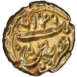 MYSORE: Tipu Sultan, 1782-1799, AV fanam (0.40g), Patan, AM1216. PCGS MS63
