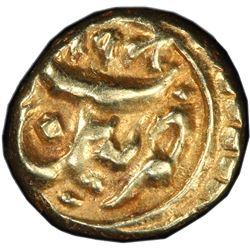 MYSORE: Tipu Sultan, 1782-1799, AV fanam (0.37g), Patan, AH1198. PCGS MS62