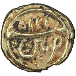 MYSORE: Tipu Sultan, 1782-1799, AV fanam, Patan, AM1215. PCGS AU55