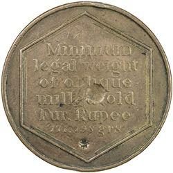 BENGAL PRESIDENCY: George III, 1760-1820, AE weight (10.95g), ND [1806-19]. VF