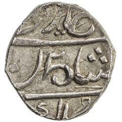 BOMBAY PRESIDENCY: AR 1/5 rupee (2.27g), Munbai, year 1. AU