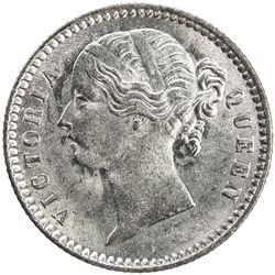 BRITISH INDIA: Victoria, Queen, 1837-1876, AR 1/4 rupee, 1840(b&c). AU