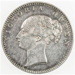 BRITISH INDIA: Victoria, as Queen, 1837-1876, AR 1/2 rupee, 1840. EF
