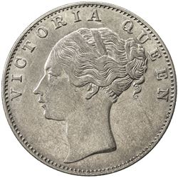 BRITISH INDIA: Victoria, Queen, 1837-1876, AR rupee, 1840(c). EF
