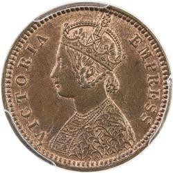 BRITISH INDIA: Victoria, Empress, 1876-1901, AE 1/12 anna, 1887(c). PCGS MS64
