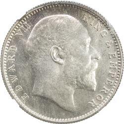BRITISH INDIA: Edward VII, 1901-1910, AR rupee, 1903 (c). NGC MS64