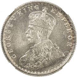 BRITISH INDIA: George V, 1910-1936, AR 1/2 rupee, 1925 (c). NGC MS63