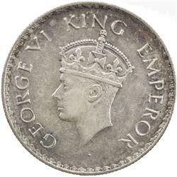 BRITISH INDIA: George VI, 1936-1947, AR rupee, 1938(c). EF-AU