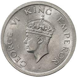BRITISH INDIA: George VI, 1936-1947, 1 rupee, 1947(l). UNC