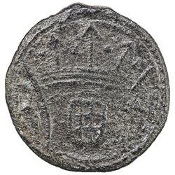 DIU: Jose I, 1750-1777, tin 5 bazarucos, 1770. VF-EF
