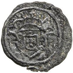 DIU: Pedro IV, 1826-1828, tin 5 bazarucos, 1828. VF-EF