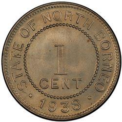 BRITISH NORTH BORNEO: 1 cent, 1938-H