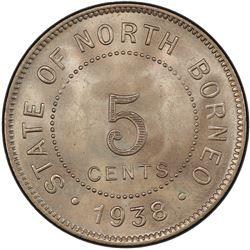 BRITISH NORTH BORNEO: 5 cents, 1938-H