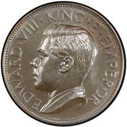 CEYLON: Edward VIII, 1936, AR crown, 1936. PCGS MS66