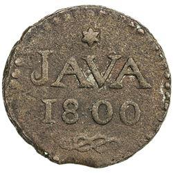 JAVA: Batavian Republic, AE stuiver, 1800. EF