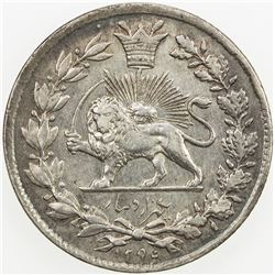 IRAN: Nasir al-Din Shah, 1848-1896, AR 1000 dinars, Tehran, AH1295. EF