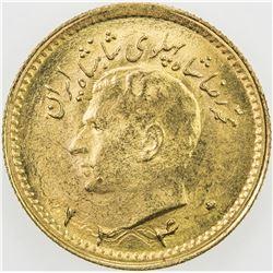 IRAN: Mohammad Reza Pahlavi, 1941-1979, AV 1/4 pahlavi, SH1340. UNC