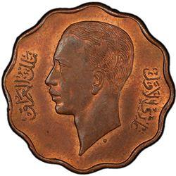IRAQ: Ghazi I, 1933-1939, AE 4 fils, 1938/AH1357. PCGS MS63
