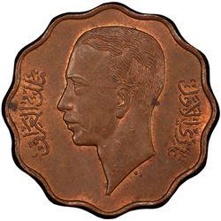 IRAQ: Ghazi I, 1933-1939, AE 10 fils, 1938/AH1357. PCGS MS63