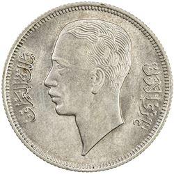 IRAQ: Ghazi I, 1933-1939, AR 50 fils, 1938/AH1357. AU