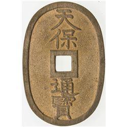 JAPAN: Tenpo, 1830-1844, AE 100 mon. EF