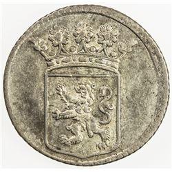 NETHERLANDS EAST INDIES: Dutch Republic, AR 1/2 duit, Holland, 1755. AU