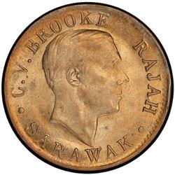 SARAWAK: Charles V. Brooke, 1917-1946, 1 cent, 1920-H. PCGS MS63