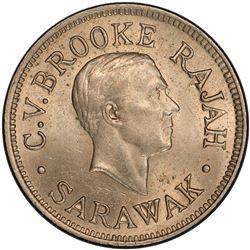 SARAWAK: Charles V. Brooke, 1917-1946, 5 cents, 1927-H. PCGS MS64
