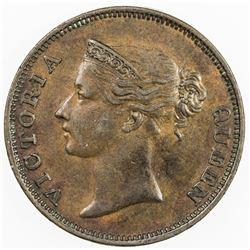 STRAITS SETTLEMENTS: Victoria, 1837-1901, AE cent, 1845. EF