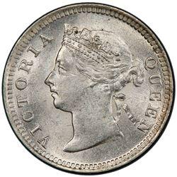 STRAITS SETTLEMENTS: Victoria, 1837-1901, AR 5 cents, 1901. PCGS MS64