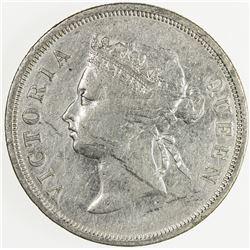 STRAITS SETTLEMENTS: Victoria, 1837-1901, AR 50 cents, 1894. VF