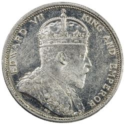 STRAITS SETTLEMENTS: Edward VII, 1901-1910, AR dollar, 1904-B. AU