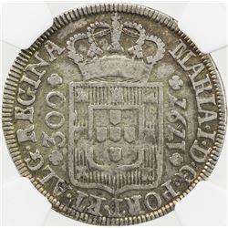 AZORES: Maria I, 1786-1799, AR 300 reis, 1797. NGC VF