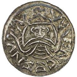 BOHEMIA: Bretislaus I, 1037-1055, AR denar (0.97g). EF